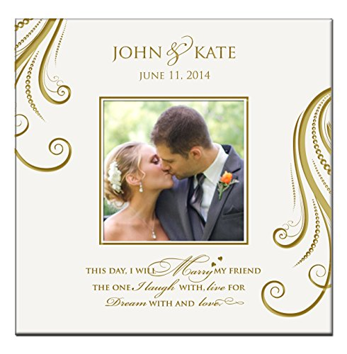 LifeSong Milestones Personalized Mr & Mrs Wedding Photo Album This Day I Will Marry My Friend Holds 200 4x6 Photos Wedding Gift Ideas Made