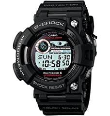 Designed for divers, the Casio G-Shock GWF1000-1 Frogman Tough Solar Digital Men's Watch features ISO 200m diving water resistance, dive time, surface interval, tide and moon data with full Auto EL Backlight with Afterglow for safe und...