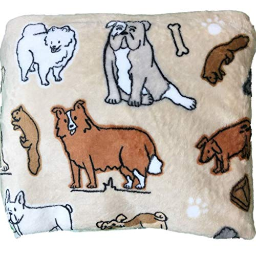 (The Big One Throws, Assorted Designs (Tan - Dogs))