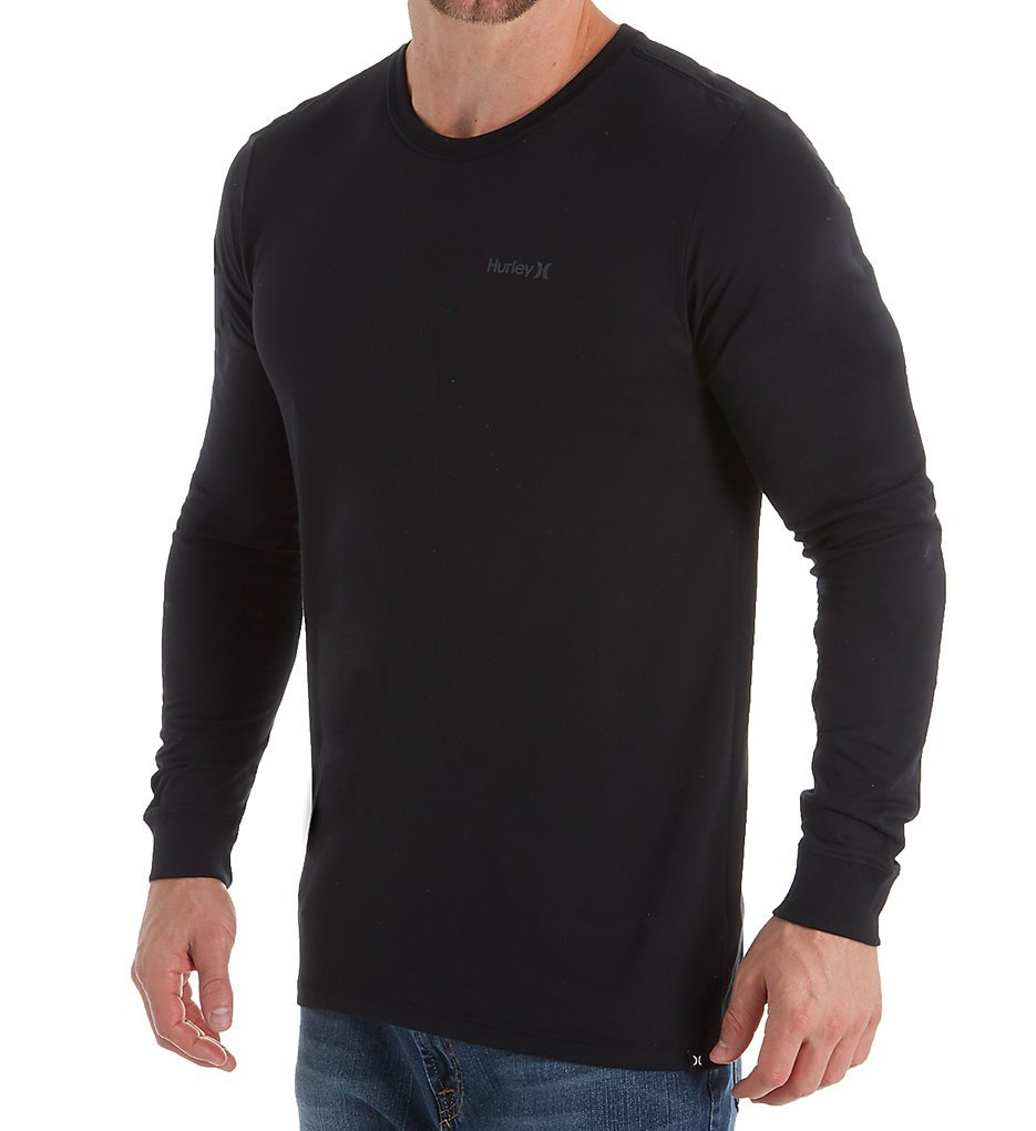 Hurley Men's Dri-Fit One & Only 2.0 Long Sleeve Tee Black Large