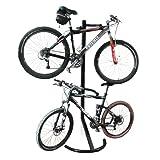 1107 RAD Soporte de Bicicleta de Gravedad para Almacenamiento o exhibición para Dos Bicicletas, Pero ocupa la Mitad del Espacio