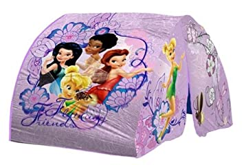 Disney Fairies Bed Tent with Pushlight  sc 1 st  Amazon.com & Amazon.com: Disney Fairies Bed Tent with Pushlight: Toys u0026 Games