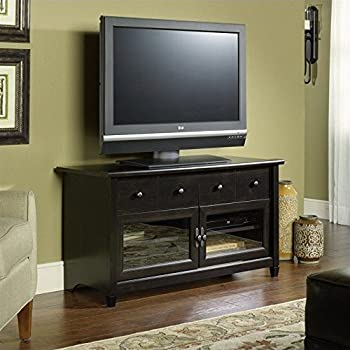 bryony flat panel tv stand with integrated mount corner edge water estate black finish vitoria instructions
