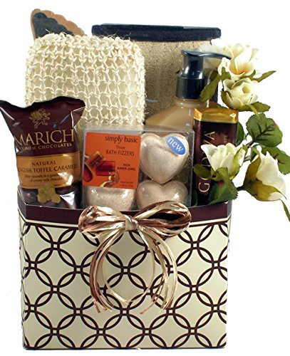 Bath Chocolate Gift Basket - Gift Basket Village Insparations Spa Gift Basket for Women