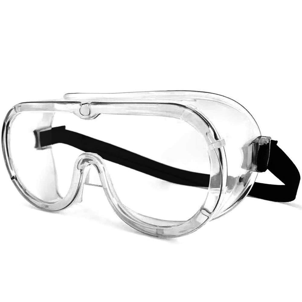 ORSEN Gafas de seguridad Gafas protectoras Gafas protectoras de seguridad, gafas resistentes a los virus Antiniebla Gafas Gafas protectoras de los ojos Gafas transparentes y livianas para
