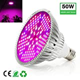 Frideko LED Grow Light, 50W Full Spectrum Ultra Bright Plant Light Bulb with E26 Socket for Home Farm Factory Hydroponic Greenhouse
