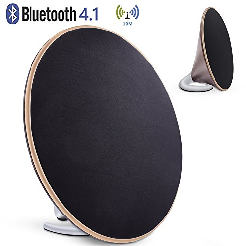 Bookshelf Speaker with Bluetooth – Retro wooden speaker, 40W Powered Bluetooth Speaker, 3D Stereo Surround Speaker with 4 Equalize Modes and DSP Technology by KEY IDEA
