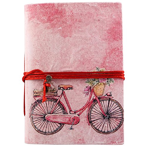 Bicycle Journal - Bless International Vintage Bicycle Handmade Handicraft Journal Or Travel Diary to Write in for Girls and Boys (12.7cm X 17.78 cm) (94 Pages) (Bicycle)