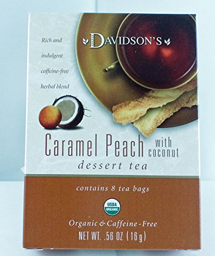 Tea Bag Box of 8 Organic, Caramel Peach with ()