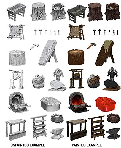 WizKids Deep Cuts: Townspeople and Accessories Unpainted Miniatures