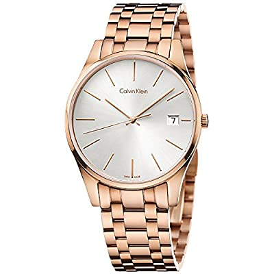Calvin Klein ck Time Rose Gold-Tone Mens Watch K4N21646