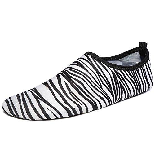 parejas de deportes cebra descalzos rápido zapatos el fitness suaves de cuidado natación calzados niño Secado yoga Running de padre la Rayas Lucdespo para de piel SvgqI1wW