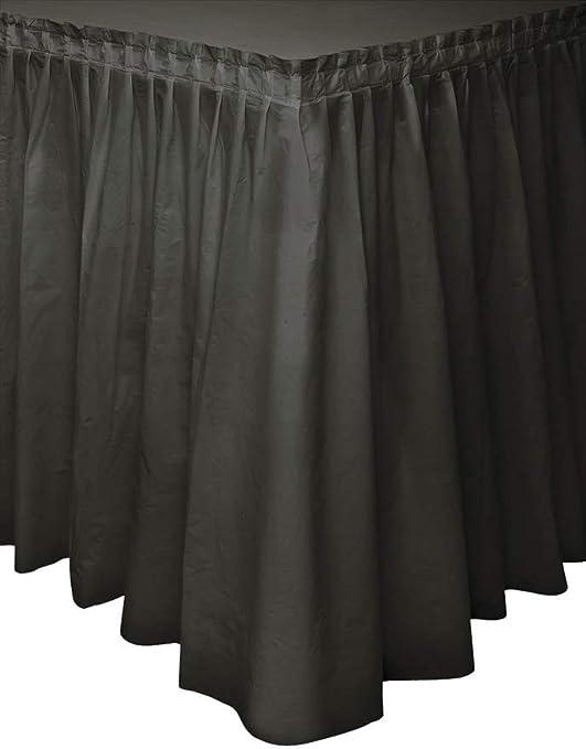 Unique Party- Falda de mesa de plástico, Color negro, 420 cm ...