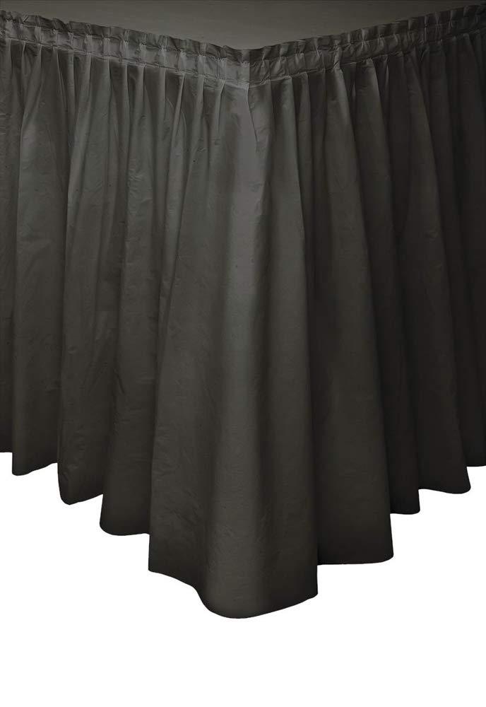 Black Plastic Table Skirt, 29'' x 14 ft.