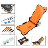 Fixed Screen Repair Holder, 15 in 1 Baker Clamp Teardown Tool for Phone Adjustable Cellphone Fixer for iPhone 7 6s 6 Plus 4.5-5.5 Inch Cell Phone With Repair Tools Screwdrivers Kit