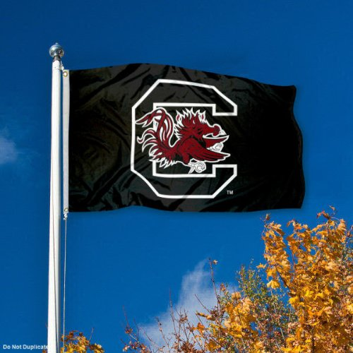 College Flags and Banners Co South Carolina Fighting Gamecocks Blackout Flag