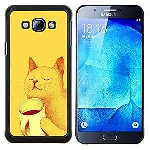 - Cat Cute Kitty - - Cubierta del caso de impacto con el patr??n Art Designs FOR Samsung Galaxy A8 A8000 Queen Pattern