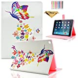 iPad Mini Case,Dteck(TM) Fashion Design Colorful Shining Painted Pattern Flip Stand Leather Full Protective Case for Apple iPad Mini,Mini 2/3 Retina (7.9 inch) (07 Colorful Butterfly)