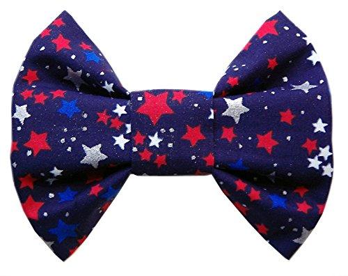 Navy Blue Patriotic Dog Bowtie