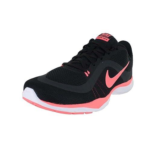 30f5d89b931 Nike Flex Trainer 6 Black Lava Glow Anthracite Women s Cross Training Shoes