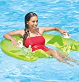 "Intex Sit N Float Inflatable Lounges Orange & Green Gift Set Bundle - 2 Pack, 60"" X 39"""