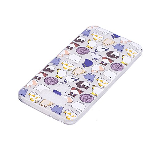 Qiaogle Teléfono Caso - Funda de TPU silicona Carcasa Case Cover para HTC Desire 820 (5.5 Pulgadas) - HC21 / Gato HC21 / Gato