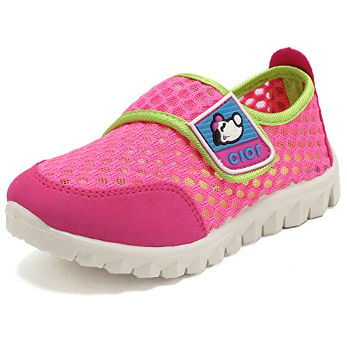 CIOR Kid's Mesh Lightweight Sneakers Baby Breathable Slip-On For Boy and Girl's Running Beach Shoes(Toddler/Little Kid) 30