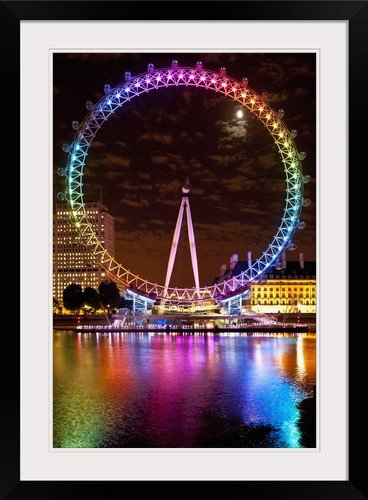 amazon com greatbigcanvas big wheel aka london eye lit up with the
