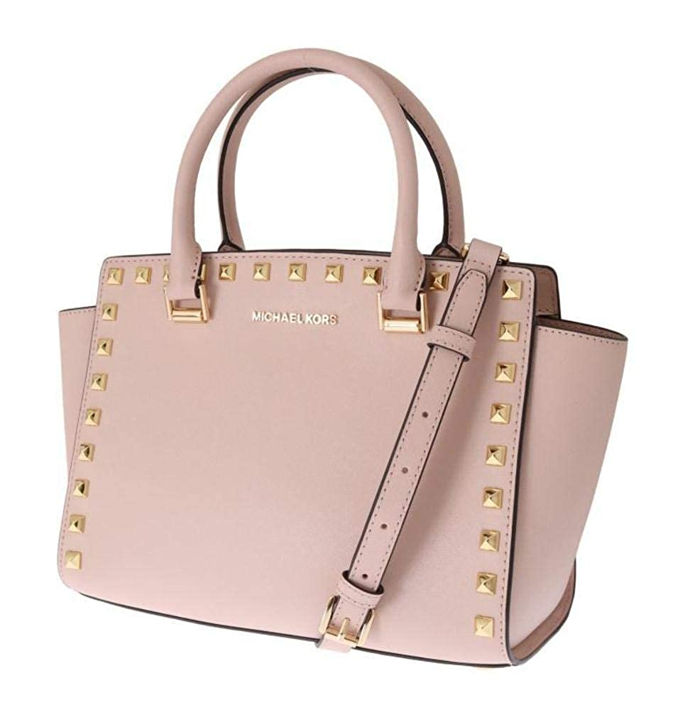 Förenta staterna gå online det senaste Buy Michael Kors Women's Selma Stud Medium Top Zip Satchel No Size ...