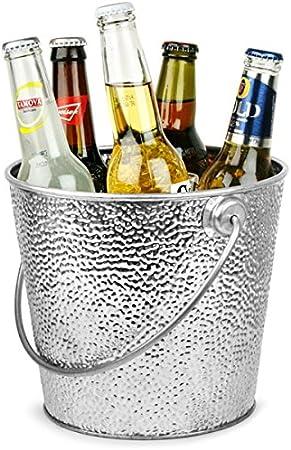 Compra Acero galvanizado – Cubo redondo de 20 cm de cerveza estuche de 4 | Cubo de servir, cubo de condimentos, soporte para salero, Presentación Cubos, Cerveza Cubo, Cubo de bebidas, bebidas
