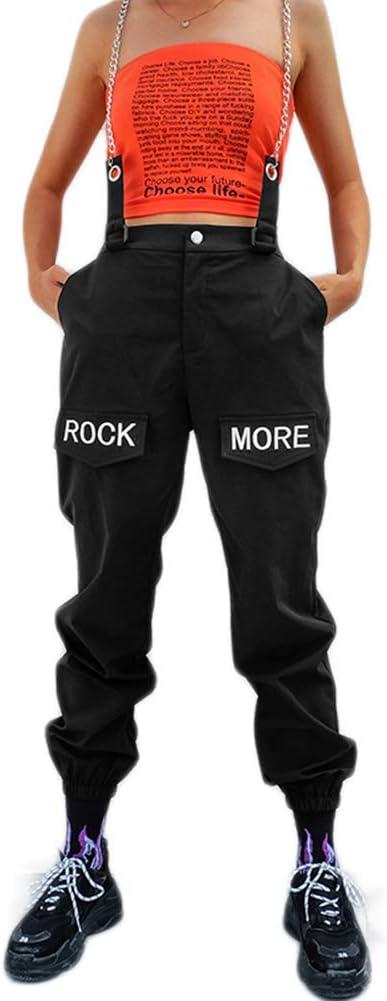 Mujer X Xya Moda Mujer Pantalones De Carga De Impresion De Cintura Alta Pantalones Conicos Cadena Harem Pantalones Pantalones Casuales De Hip Hop A S Ropa Smilekare Com
