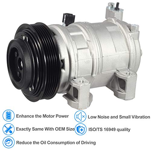 AUTEX AC Compressor and A/C Clutch CO 10778JC 926008J01A Replacement for  Nissan Altima 2002 2003 2004 2005 2006 2 5L