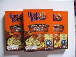Uncle Ben\'s Country Inn Chicken & Wild Rice 6 Oz (3 Pkgs)