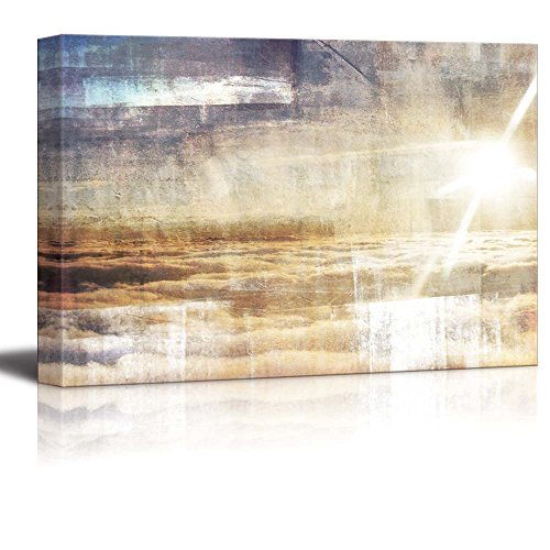 Abstract Sun Above the Clouds Wall Decor ation