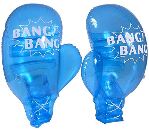 21 Inch Giant Inflatable Pair of Boxing Gloves (Blue) -