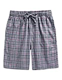 Soft Cotton Plaid Check Shorts Pants BSP-SB001-Grey M