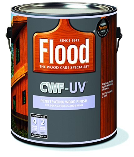 Penetrating Wood Finish, Cedar, 1 gal, Cwf-Uv, Flood for Decks, Fences and Siding ()