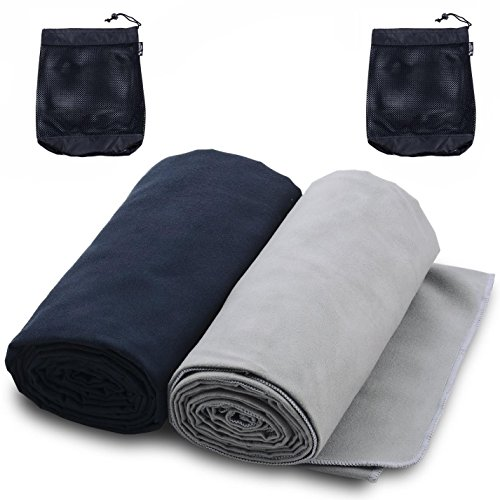 The Friendly Swede Microfiber Sports & Travel Towels (2 Pack) (20