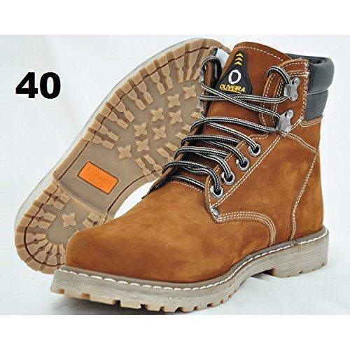 Botina Nobuk Castor Oliveira Sapato Nº 40