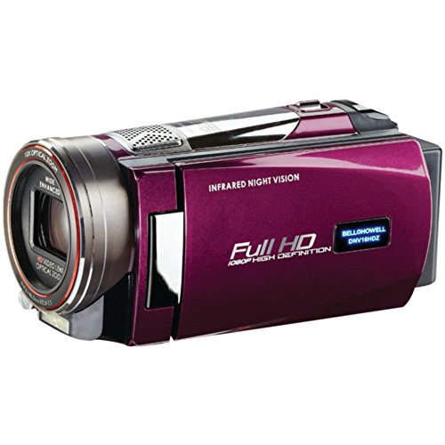 Purple Night Vision Camcorder Bell+Howell DNV16HDZ 16.0MP Rogue 1080p HD Camera Accessories (Bell Howell Dnv16hdz)