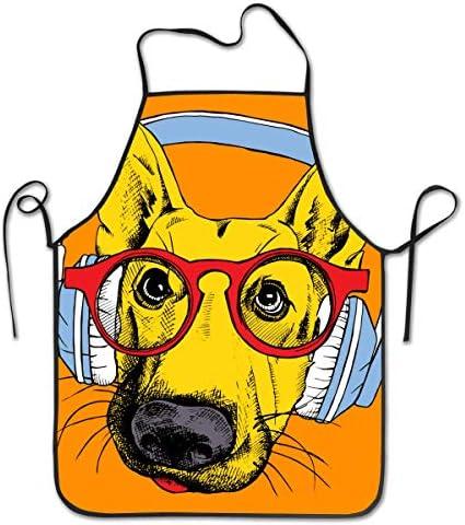 Waterdichte Rubber Vinyl Schort Beste om droog te blijven tijdens het afwassen Lab Werk Slager Hond Grooming Schoonmakende Vis Projecten Industrieel Chemisch Bestand Kunststof Duitse Herder Met Hoofdtelefoon En