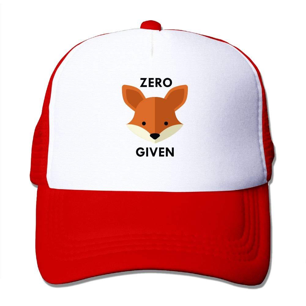 JimHappy Zero Fox Given Trucker Caps HatAdjustable Back Mesh Cap for Men and Women
