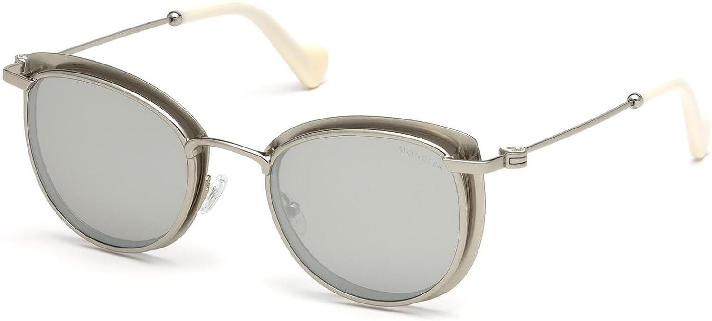 smoke mirror Sunglasses Moncler ML 0045 17C matte palladium