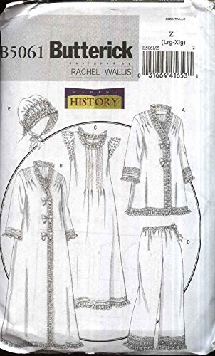 Butterick Patterns B5061 Misses' Jacket, Robe, Nightgown, Pants and Hat, Size Z (LRG-XLG)