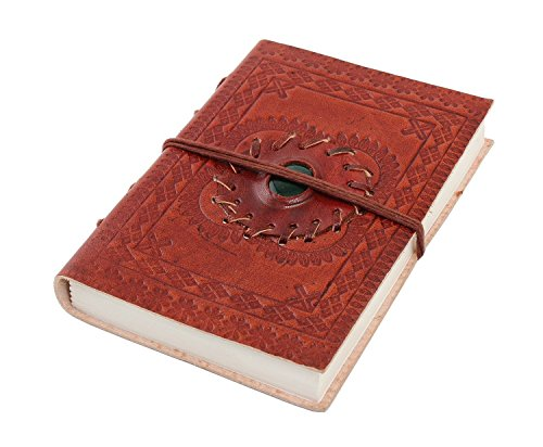Store Indya Diwali Gifts Leather Journal Notebook Brown C...