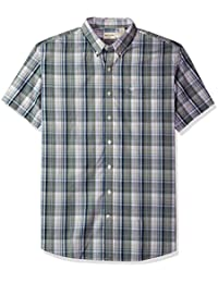Men's Big and Tall Short Sleeve No Wrinkle Stretch Button-Front Shirt