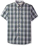 Dockers Men's Big and Tall Short Sleeve No Wrinkle Stretch Button-Front Shirt, Burgee Agave Green, 3XL