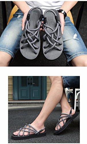sandali Uomini Tempo libero scarpa Uomini sandali estate gioventù Roma sandali Antiscivolo Spiaggia sandali ,grigio,US=8,UK=7.5,EU=41 1/3,CN=42
