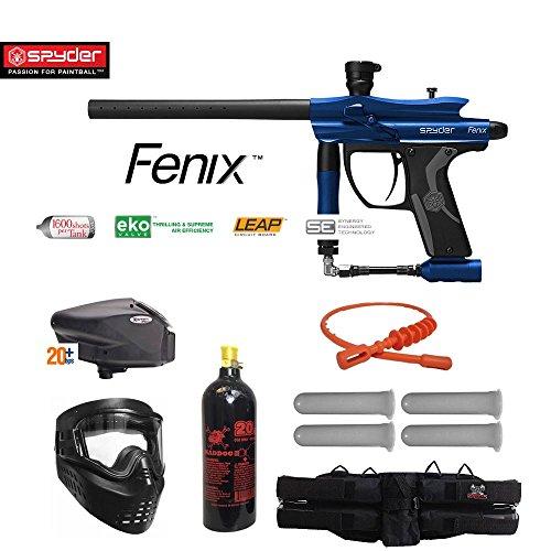 MAddog Spyder Fenix Gold Paintball Gun Package - Blue ()