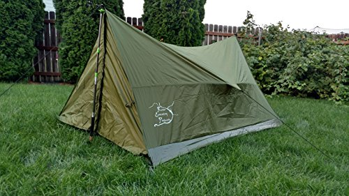 Trekking Pole Tent, Ultralight Backpacking Tent, 2 Person All Weather Tent